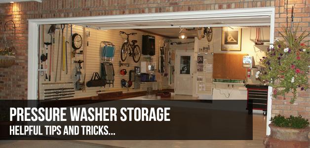 pressure washer storage